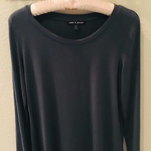 Cable & Gauge soft and silky long sleeve grey top